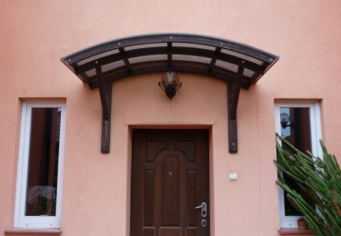 Canopy over a door