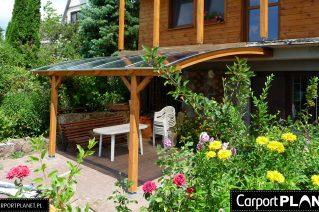 Zadaszenie tarasu domku letniskowego Zielona Góra
