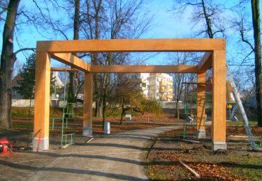 Pergola in the park