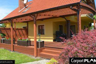 Zadaszenie tarasu z drewna montaż Kielce