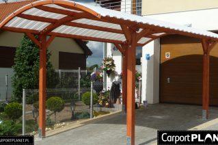 Wiata garażowa drewniana projekt Radomsko