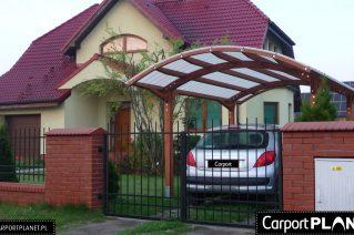 Wiata garażowa z drewutnią Świdnik