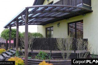 Zadaszenie tarasu dach dwuspadowy Kluczbork