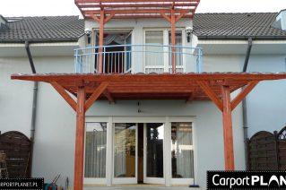 Zadaszenie tarasu nad balkonem montaż Gliwice