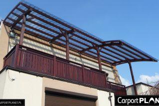 Zadaszenie tarasu na piętrze montaż Kalisz